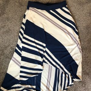 Bordeaux HiLow Stripped Knit Skirt